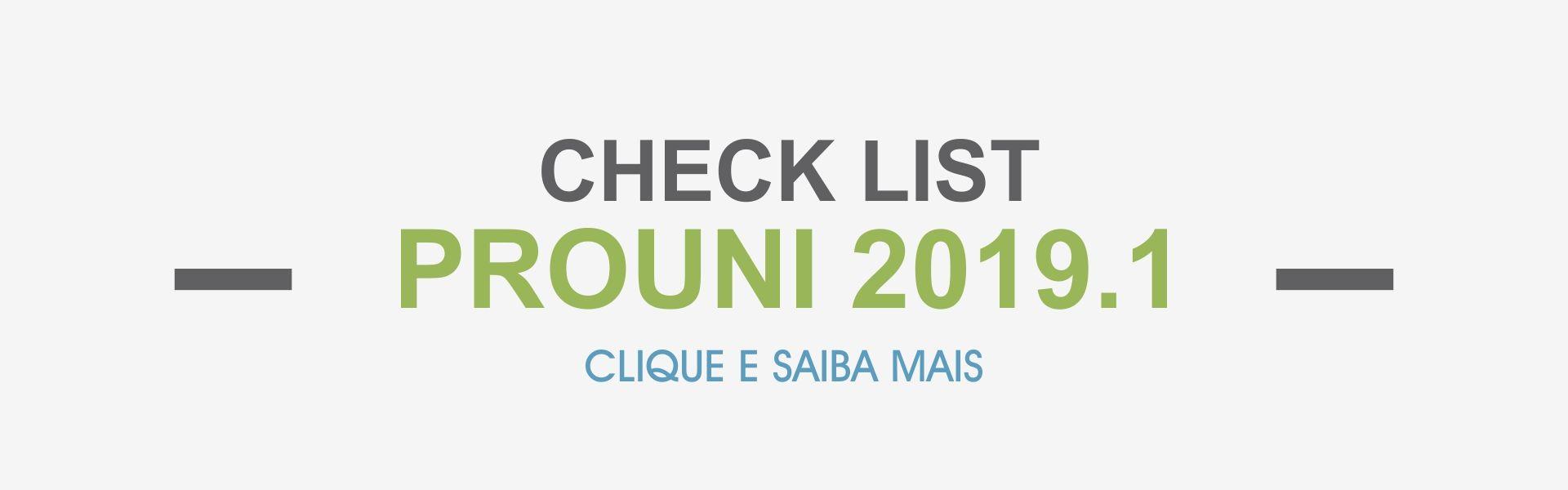 prouni check list