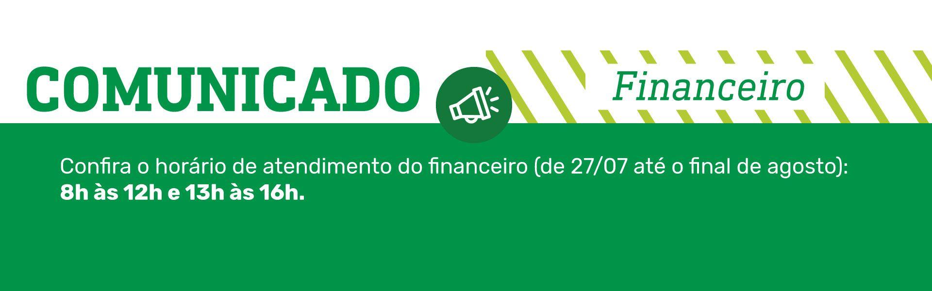 aviso financeiro