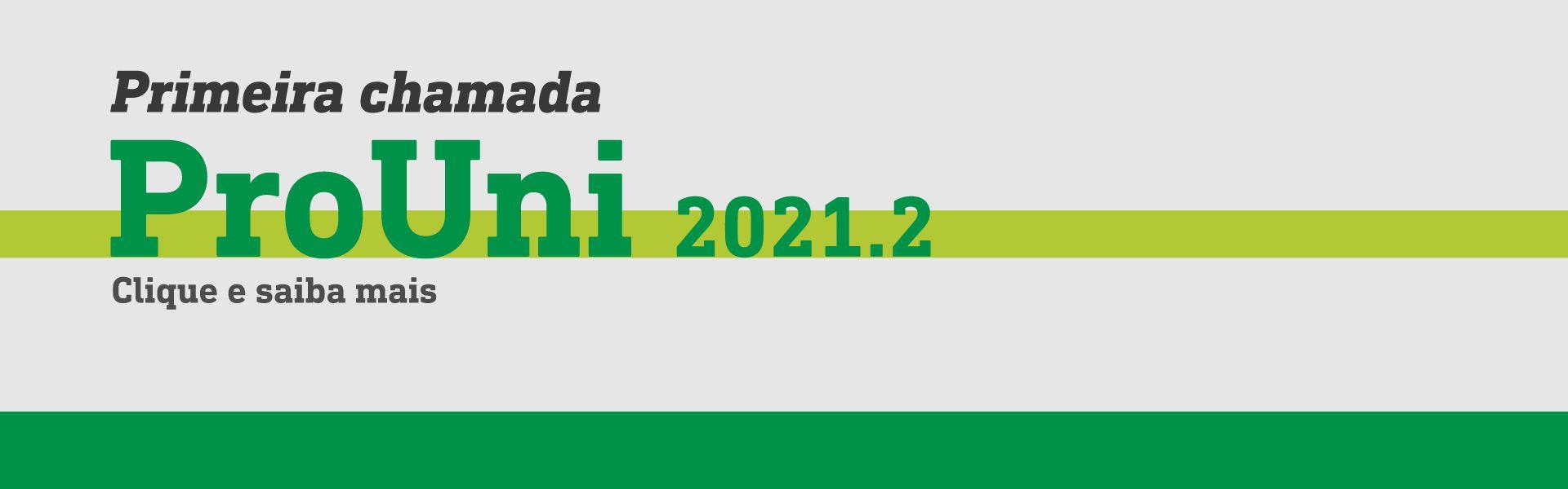 prouni 2021.2 1 chamada