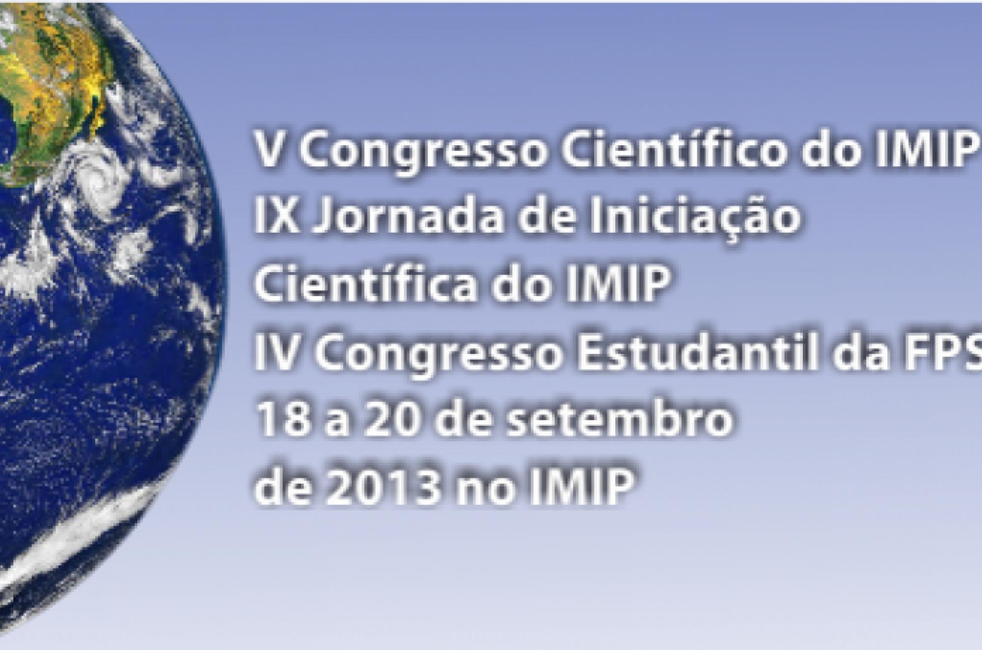 Informações sobre congresso do IMIP