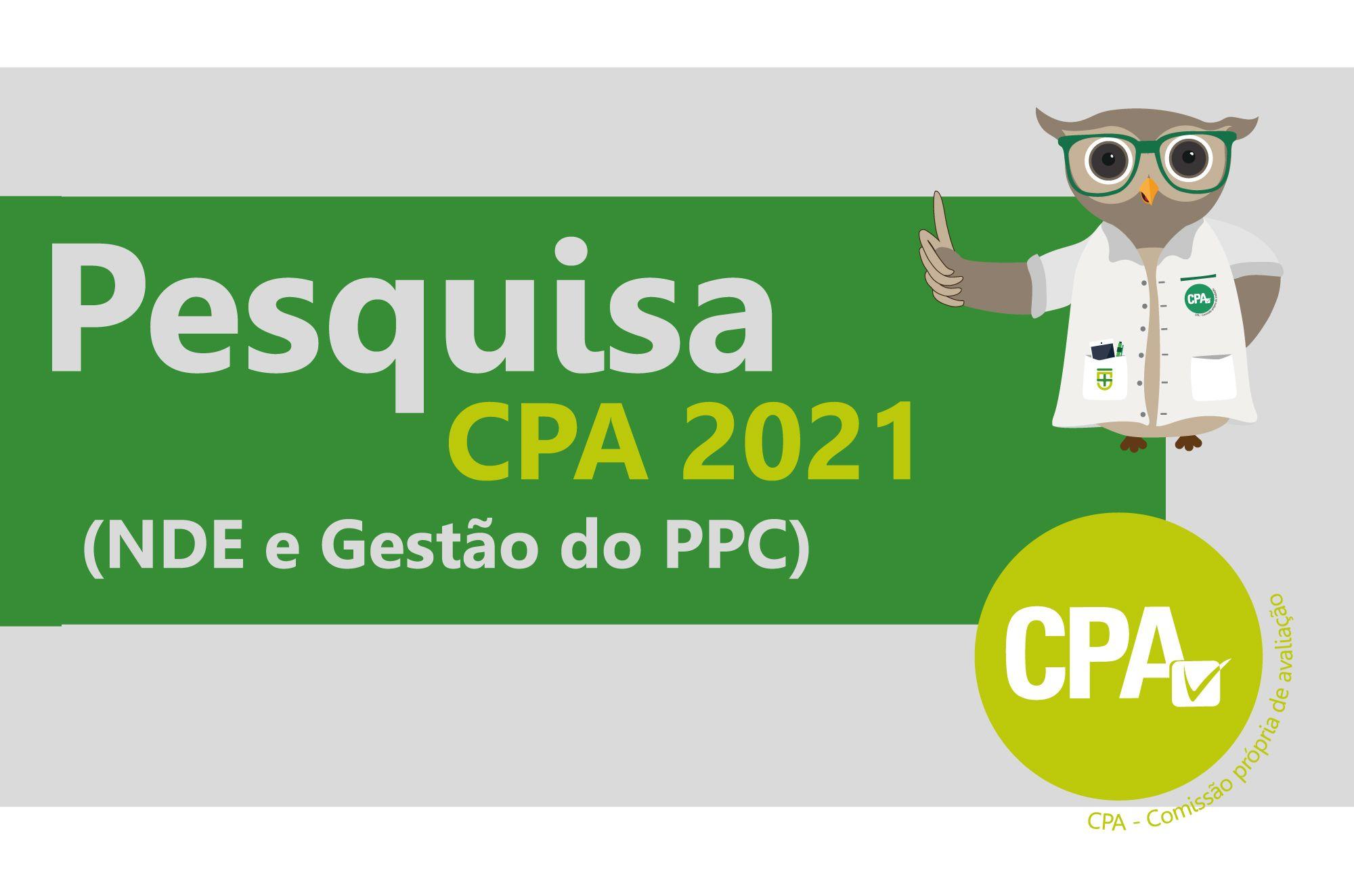 Pesquisa CPA 2021 (NDE e Gestão do PPC)