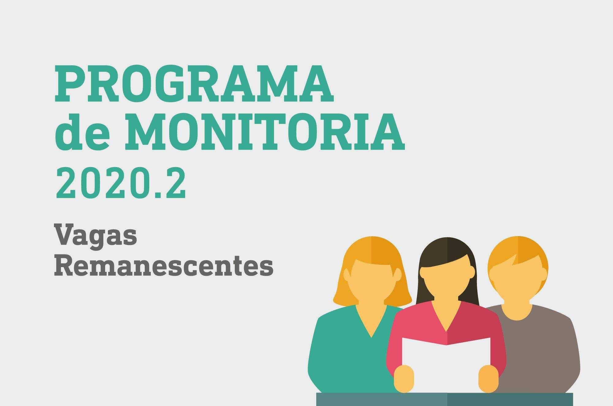 Pograma de Monitoria 2020.2 - Selecionados para entrevistas (vagas remanescentes)