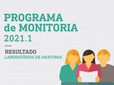 Programa de Monitoria 2021 - Resultado Laboratórios de Anatomia - Medicina