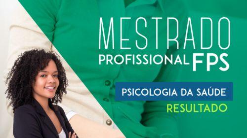 Resultado - Mestrado em Psicologia da Saúde