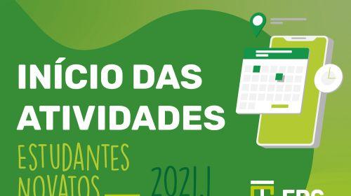 Início das atividades 2021.1 - estudantes novatos