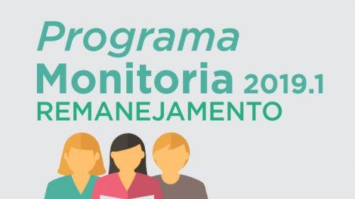 Programa de Monitoria 2019.1 - novo remanejamento