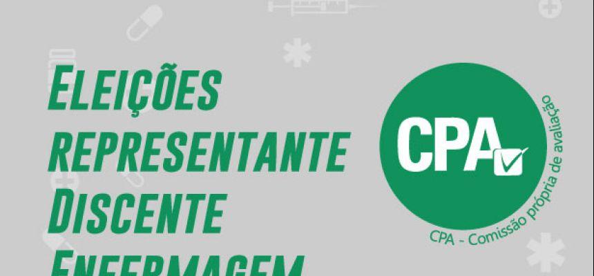 Eleições CPA - Representante Discente de Enfermagem