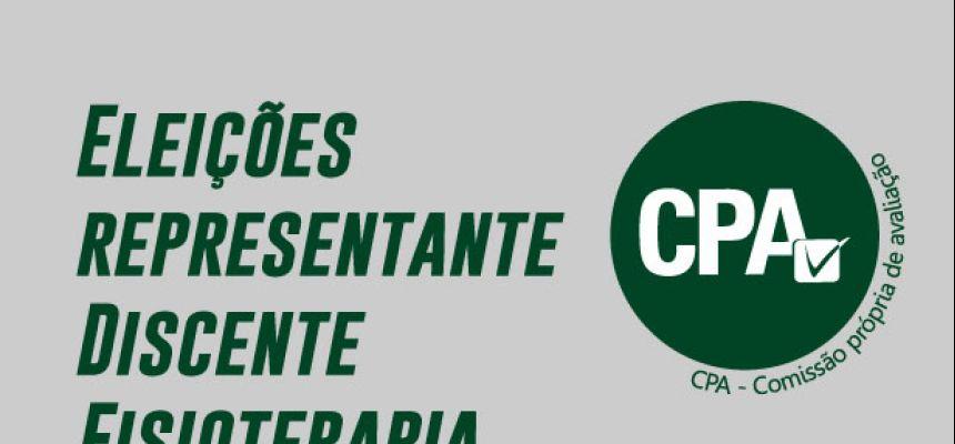 Eleições CPA - Representante Discente de Fisioterapia