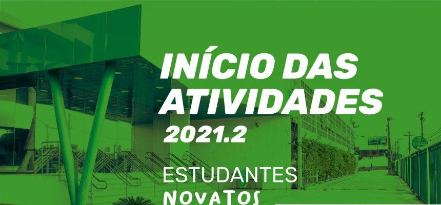 Início das atividades 2021.2 - estudantes novatos