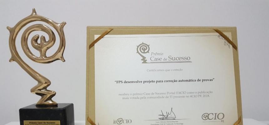 FPS recebe prêmio de melhor case de sucesso durante evento de tecnologia