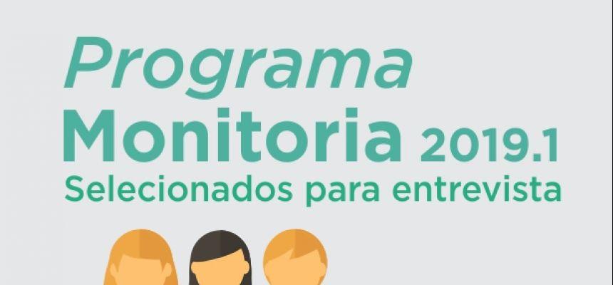 Selecionados para entrevista - Processo de monitoria 2019.1