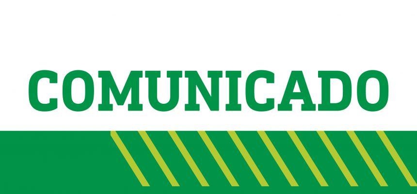 Comunicado sobre funcionamento dos setores administrativos