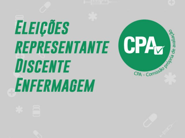 ELEIÇÕES CPA - REPRESENTANTE DISCENTE DE ENFERMAGEM - Resultado