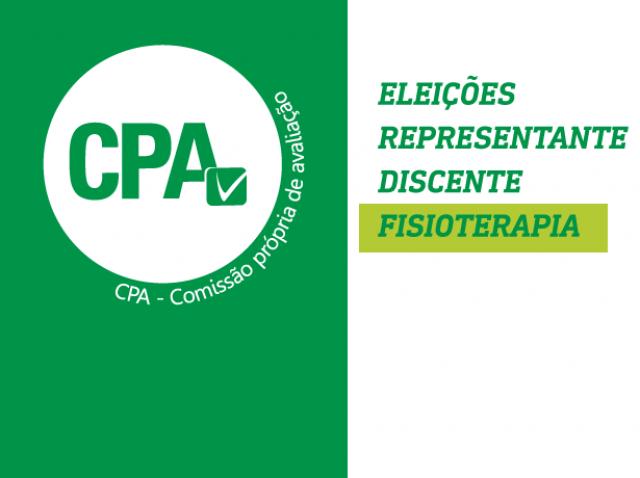 Eleições CPA - Representante Discente de Fisioterapia - Resultado
