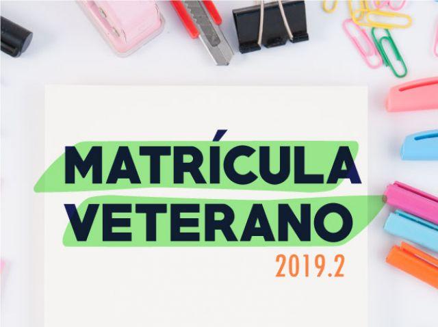 Matrícula 2019.2 - Estudantes veteranos