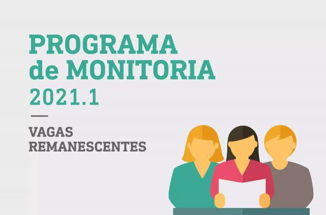 Programa de Monitoria 2021.1 Vagas Remanescentes - Resultado final