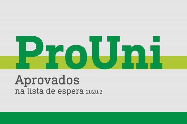 Aprovados na lista de espera Prouni 2020.2