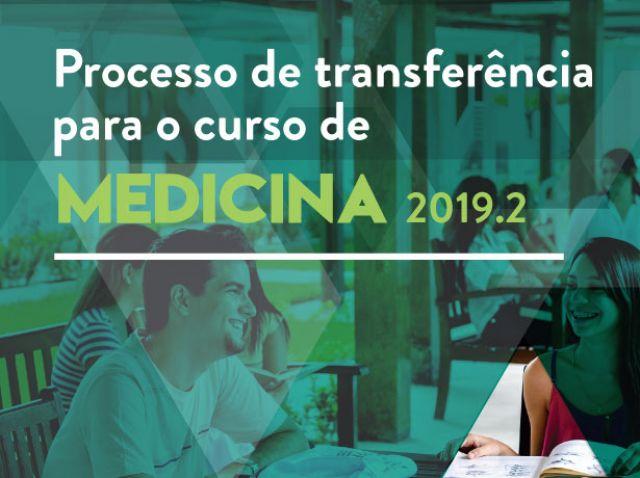 Processo de Transferência de Medicina 2019.2 - 2º remanejamento
