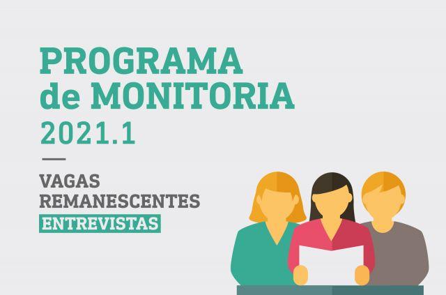 Programa Monitoria 2021.1 Vagas Remanescentes - Selecionados para entrevista
