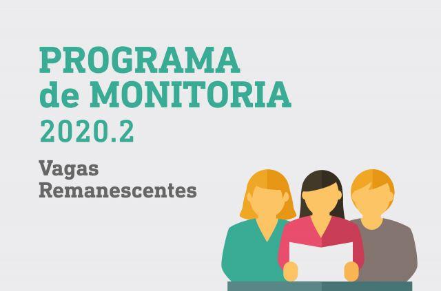 Programa de Monitoria 2020.2 - Vagas remanescentes